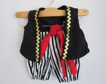 Pirate Boy Costume Vest Knickers and Sash