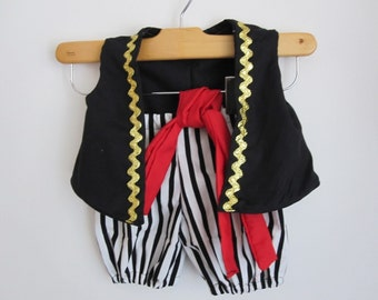 RUSH Pirate Boy Costume Vest Knickers and Sash