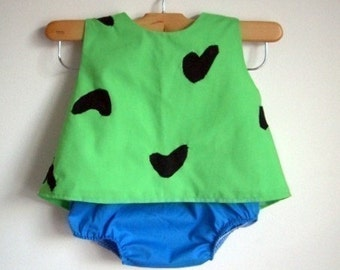 Pebbles Costume - baby - toddler - girl - Halloween Top and Bottom - raegun