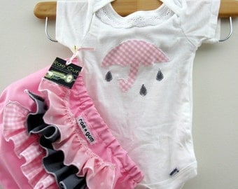 Onesie - ruffle diaper covers gift set - Lovely Showers Pink - Baby - Girl