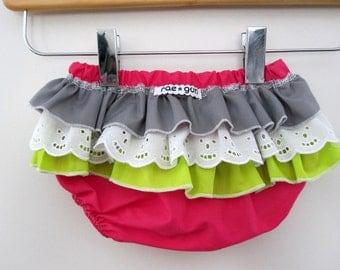Unicorn Princess - Wrap around ruffle diaper covers