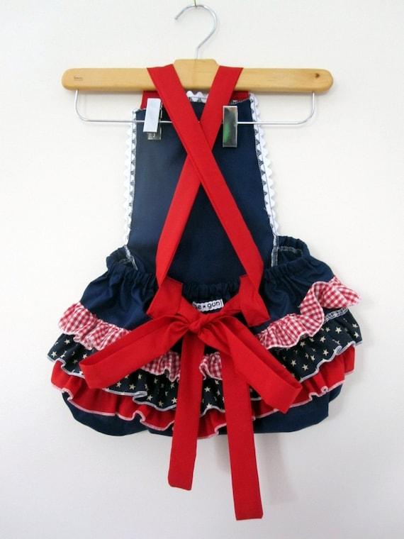 Retro Ruffler -Stars and Stripes - Baby girl - Toddler - Jumper - July 4th