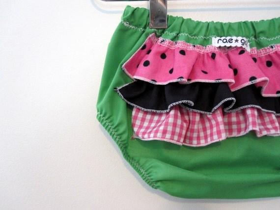 Watermelon - Bloomer- Ruffle diaper covers - Girl - Bottoms