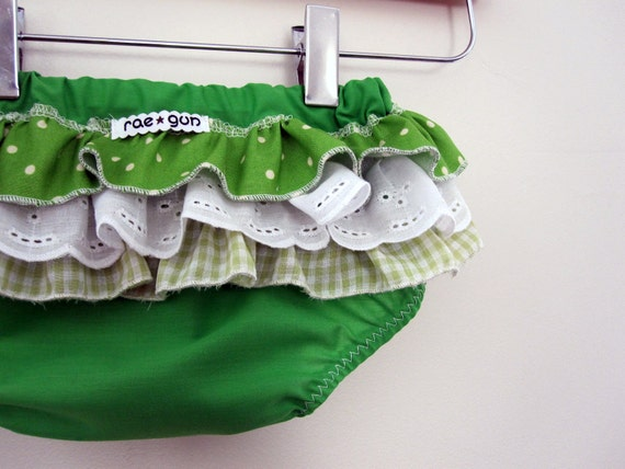 Lime Pie  - Wrap around ruffle diaper covers - Ruffle Bums - Baby - Toddler