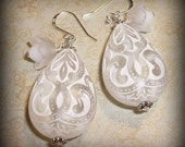 Winter lace earrings
