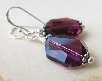 Royal serindae Sterling silver Crystal earrings