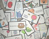 Mega Set of Lunch Box Love Notes includes 192 Notes (b), Lunch Notes for Kids, Lunch Box Notes