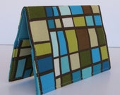 Passport Travel Holiday Cruise Cover Case - Blue Brown Mosaic