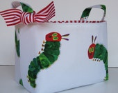 Storage and Organization - Fabric Container Organizer Bin Basket - Made with Licensed Very Hungry Caterpillar Fabric