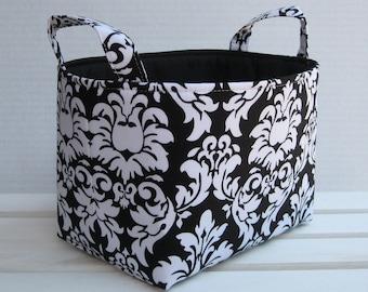 Fabric Organizer Storage Organizati on Container Bin Basket - Black ...