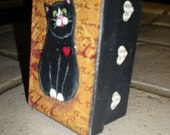 Blackie the Love Cat Bling Box  Halloween Cutie