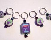 Wine Stitch Markers
