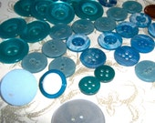 Blue selection of buttons