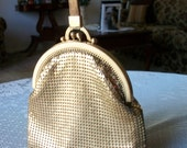 Whiting and Davis Gold Mesh Handbag/ Reserved for noneoftheabove