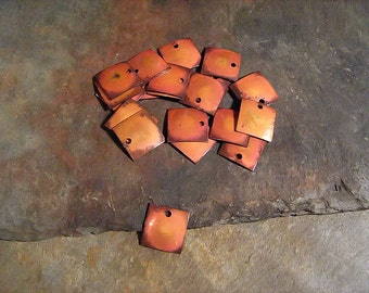 """Copper Jewelry Findings Charms Pendants or Earrings Lot of 20 (1/2"""" x 1/2"""") 16oz. 22 Gauge Solid Copper"""