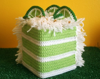 Key Lime Cake or Lemon Tissue Box Cozy - Made To Order