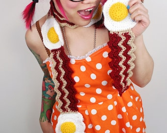 Bacon and Egg Scarf - Made To Order