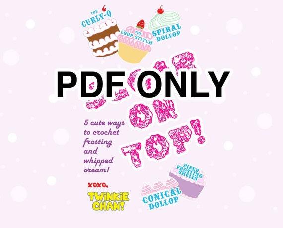 PATTERN pdf - Sugar On Top mini book - 5 little patterns
