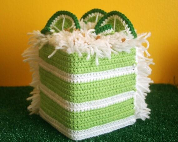 Key Lime Cake or Lemon Tissue Box Cozy - Made To Order