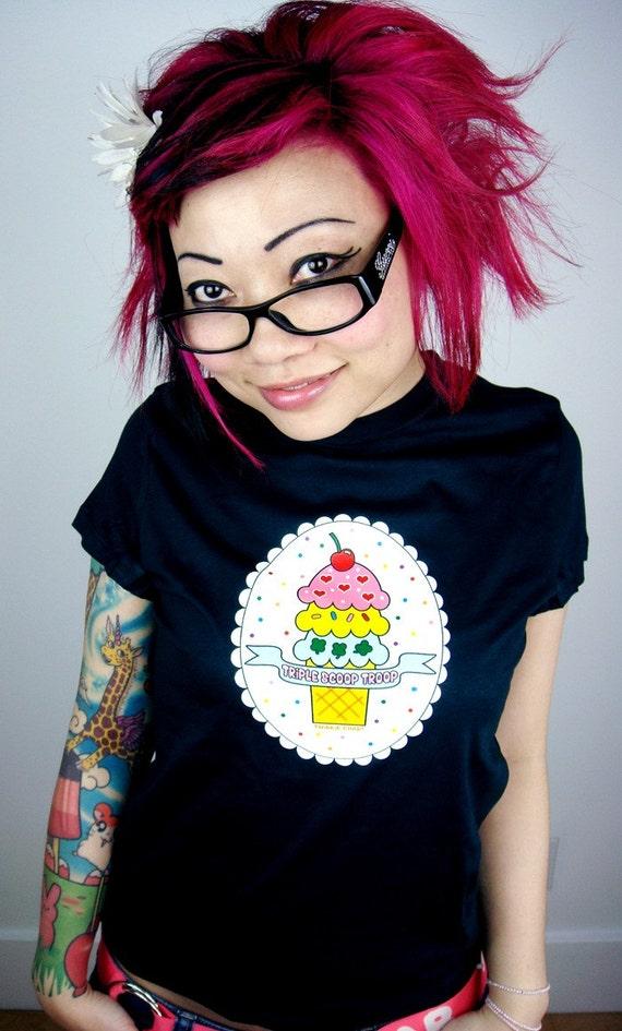 Size XL - Triple Scoop Troop ice cream T-Shirt