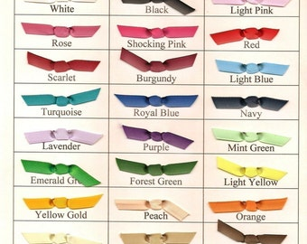 CHOOSE YOUR OWN Colors 12 Itty Bitty Stick-on Hair Bows for Newborn Baby or Infant Girl