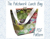 The Insulated Patchwork Lunch Bag PDF Sewing Pattern and Tutorial