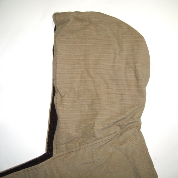 Unisex Tan Corduroy - Scoodie - Scarf and Hood in One- SALE