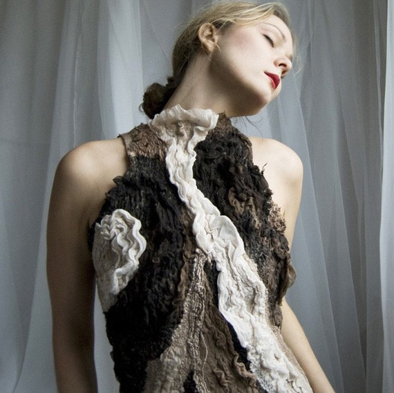 Dresses SALE  Nuno felt eco dress - Inamorata OOAK - Last sale 30 percent off