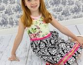 Girls Custom Tank Dress  Size 12 months to 8 yrs Parisian Rose LAST ONE
