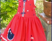 Little Star 4th of July twirl dress Size 2T to 10