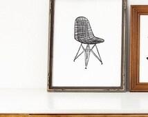 Beliebte artikel f r eames wire chair auf etsy for Draht stuhl design