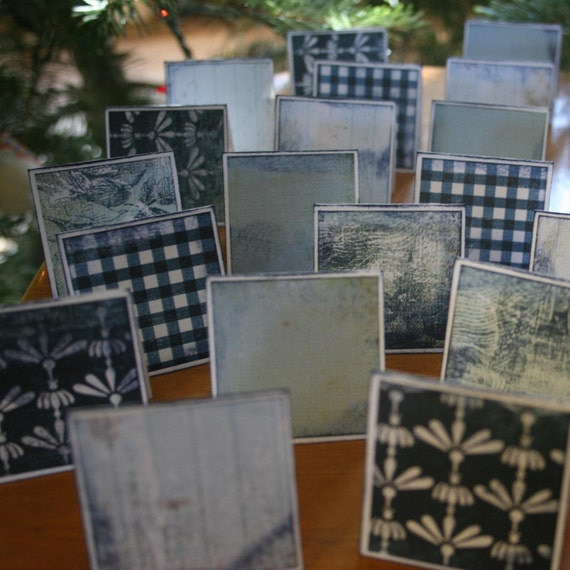 The Blue Room Note Cards / Gift Tags / Place Cards Set Of 30