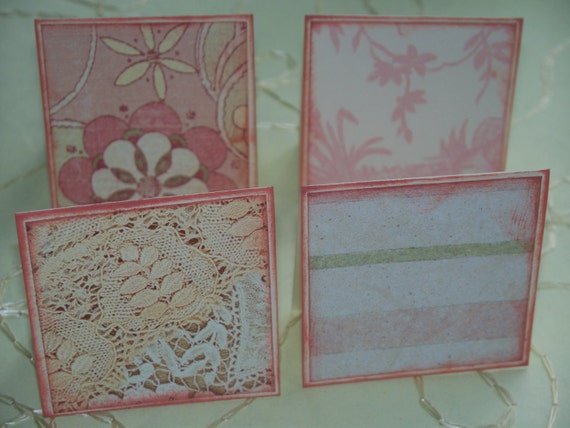 Mothers Garden Tea Mini Note Cards / Gift Tags / Place Cards Set Of 24