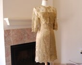 SALE - GILTY PLEASURES corded lace and satin corseted strapless dress and bolero Size 8