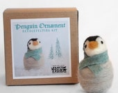 Penguin Ornament Needle Felting Kit