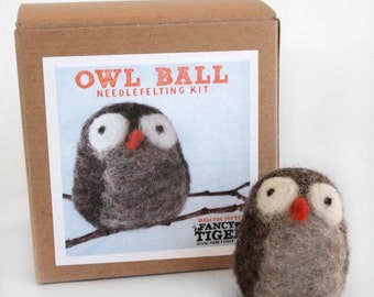 Owl Ball Needle Felting Kit