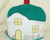 Embroidered Toaster Cover poses as Cottage- 1940s or 50s