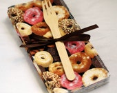 Donuts - green by mamamade - Reusable, Eco-Friendly Cloth Napkin Set