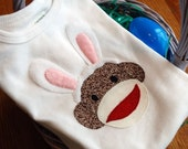 Some Bunny Loves Me - Sock Monkey Bunny Infant or Toddler T-shirt OR Onesie