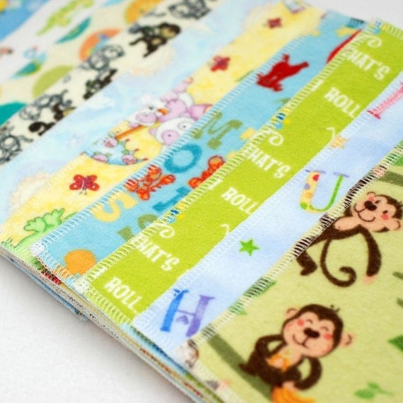 Reusable Cloth Wipes - Bold Boy Prints - Perfect for Cloth Diapers