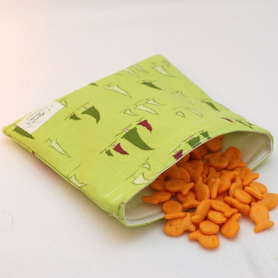Whimsical Trees - green by mamamade Eco-Friendly Reusable Sandwich Bag