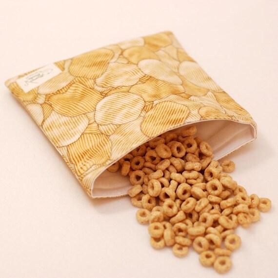 Potato Chips - Medium Reusable Sandwich Bag from green by mamamade