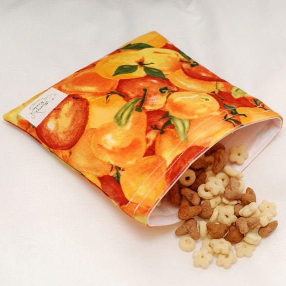 Autumn Harvest - green by mamamade Eco-Friendly Reusable Sandwich Bag