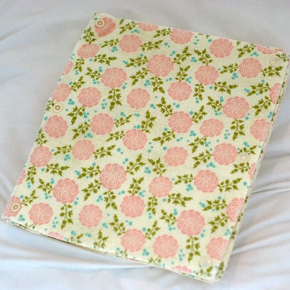 Ready-to-Ship - Reusable, Eco Friendly Snapping Paper Towel Set - Sweet Blossom - Cotton and Terry Cloth