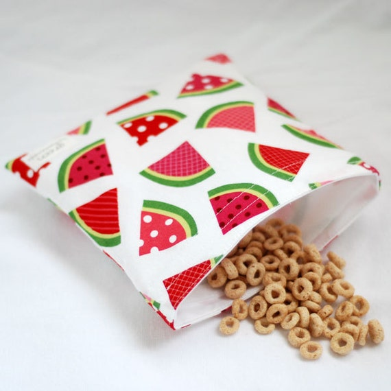 Summer Melon - green by mamamade Eco-Friendly Reusable Sandwich Bag