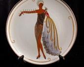 "Franklin Mint House of Erte ""Diva II"" Art Deco Limited Edition Porcelain Plate Design by Artist Erte"