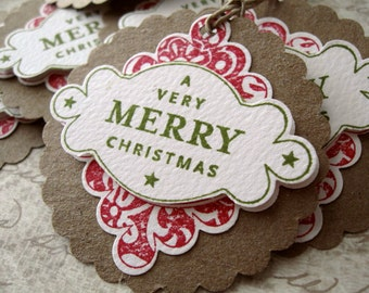Merry Christmas Gift Tags Set/6