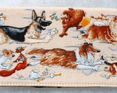 Checkbook Cover - Dog Chase