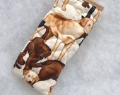 Quilted Eyeglass/sunglass case - Labrador Retrievers