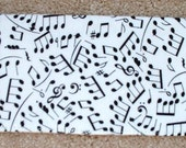Checkbook Cover - Musical Notes